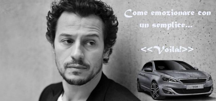 Stefano Accorsi, pubblicità della Peugeot 308, design for high sensation