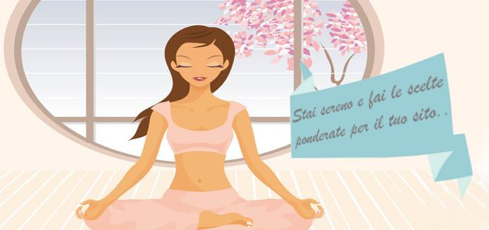 Ragazza che fa Yoga, fai le scelte ponderate per il tuo e-commerce