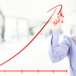 grafico in aumento