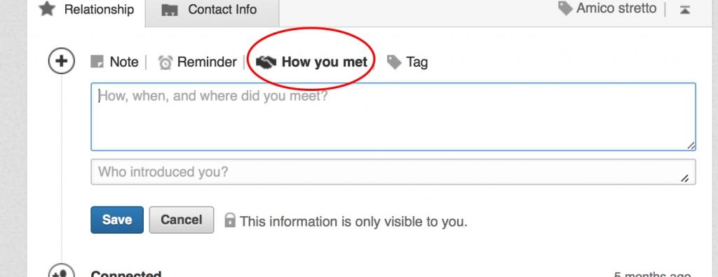 how you met relationship