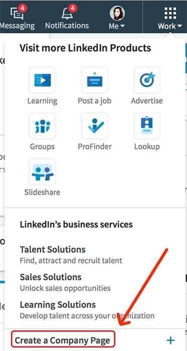 aprire pagina aziendale Linkedin