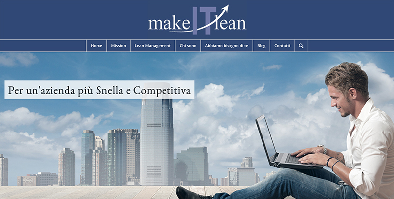 Home Page del sito Make IT Lean