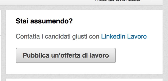 offerte di lavoro Linkedin