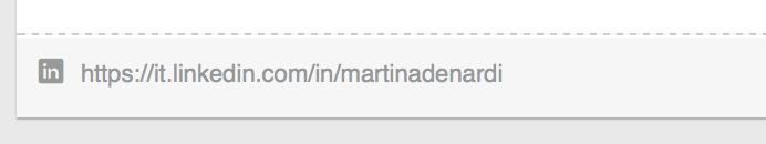 url profilo linkedin