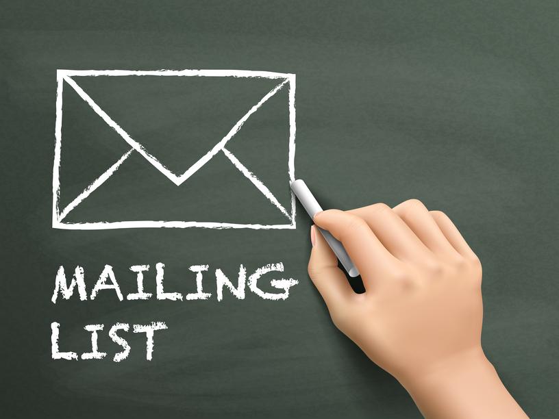 come creare una mailing list