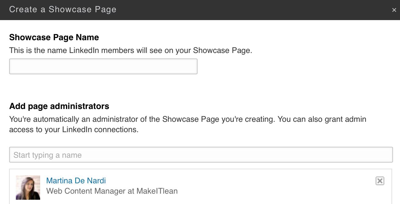 Linkedin come aprire una pagina vetrina
