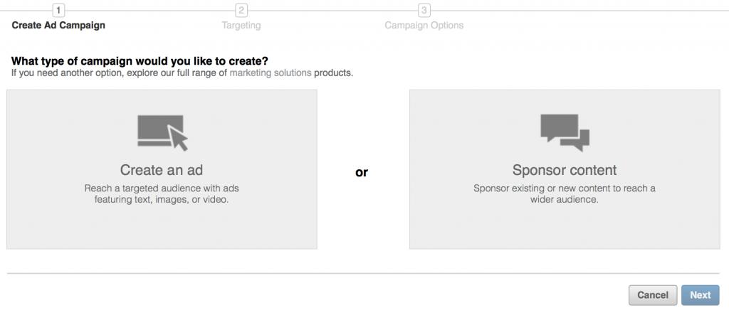 Linkedin annunci sponsorizzati