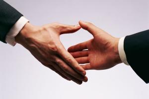 social selling stretta di mano