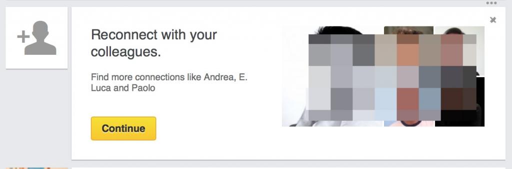 suggerimenti persone Linkedin