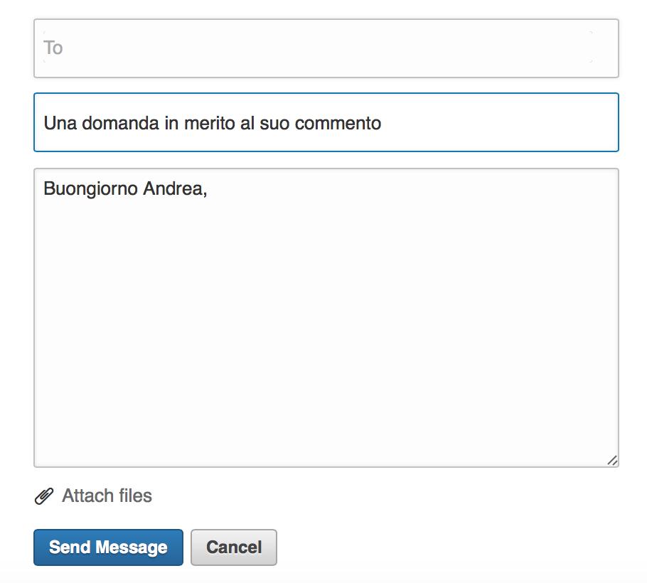 come scrivere un messaggio su Linkedin