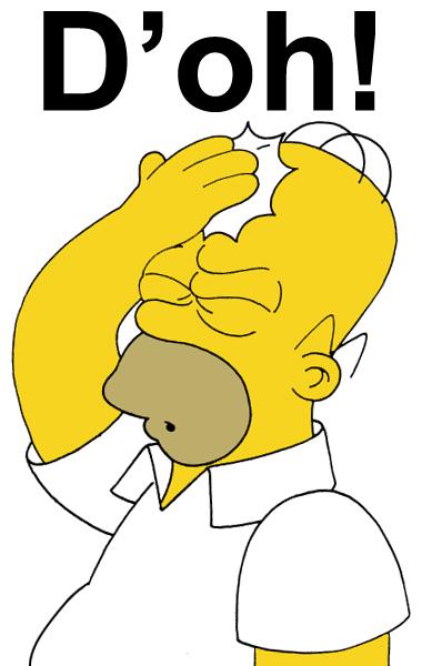 Homer che fa doh