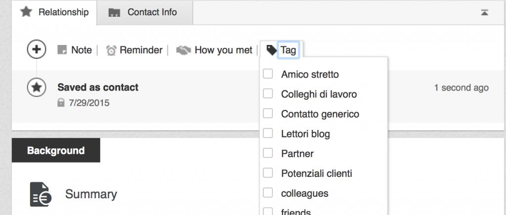 come usare i tag linkedin