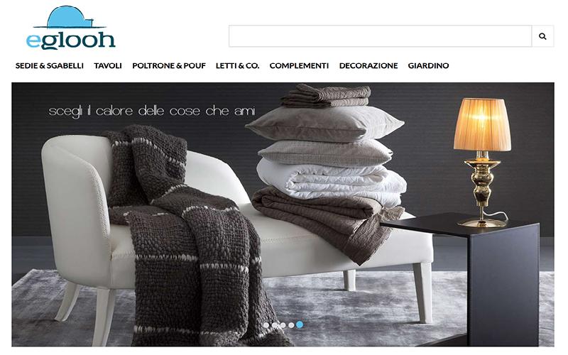 Home page negozio online Eglooh