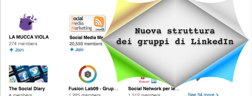 Struttura dei gruppi di LinkedIn