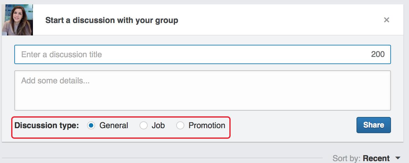 pubblicare una discussione su LinkedIn