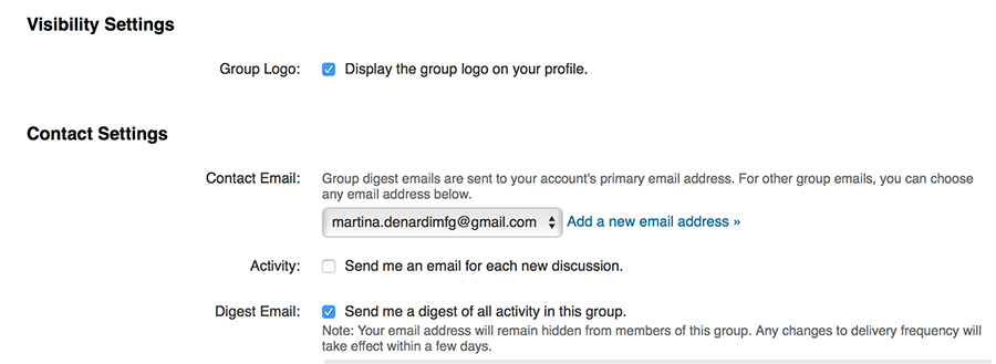 informazioni gruppo linkedin