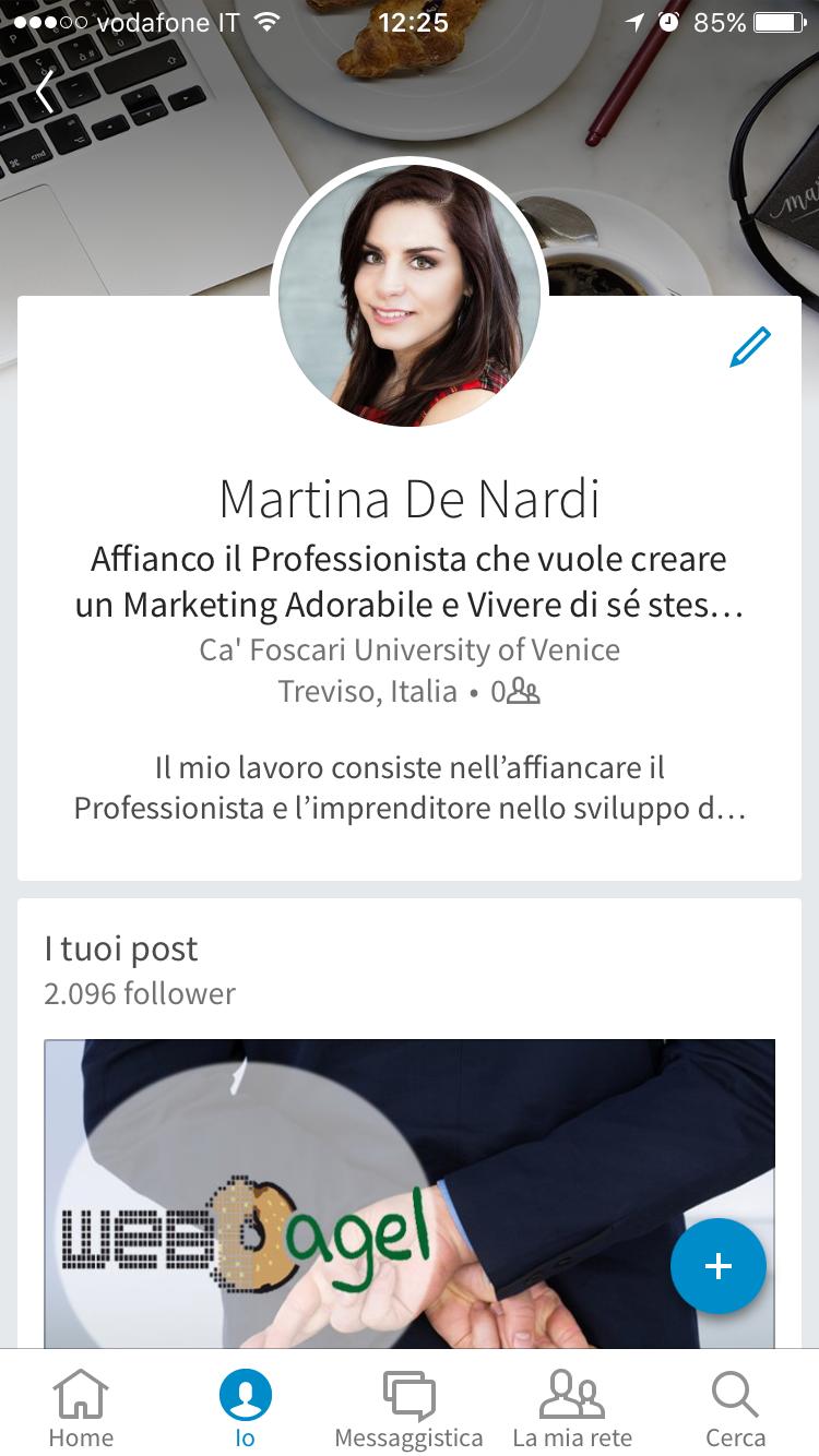 Profilo LinkedIn app