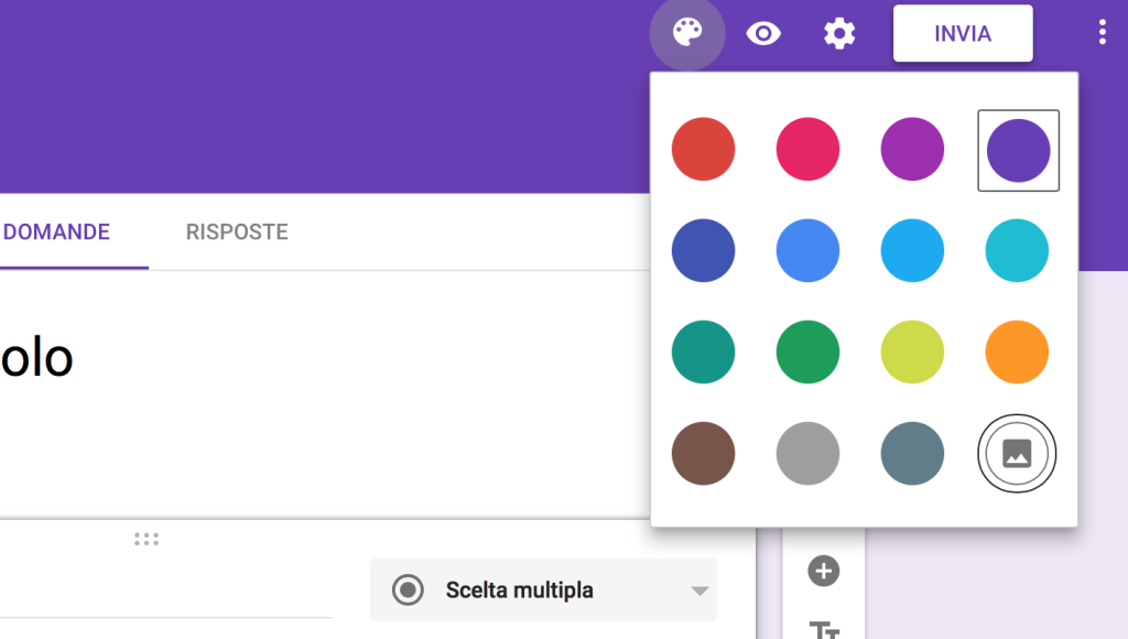 Tavolozza Colori moduli google