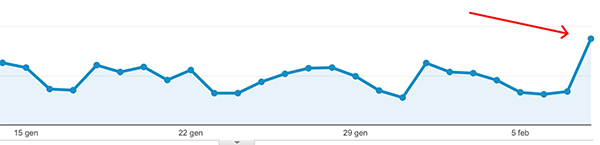 Google analytics del sito martinadenardi.it