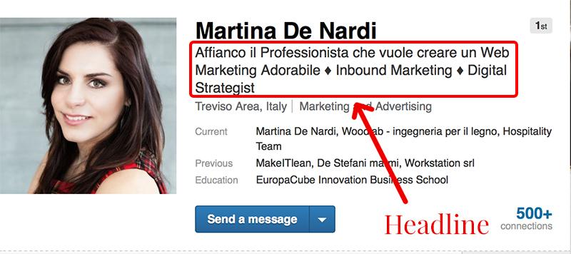 Headline LinkedIn martina de nardi