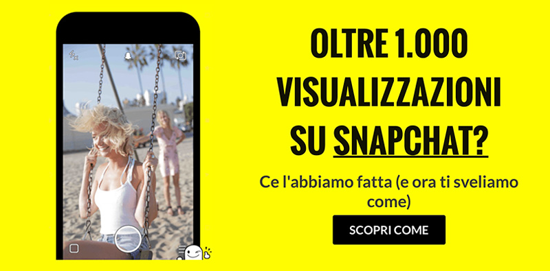 banner per snapchat corso