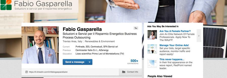 profilo LinkedIn di Fabio