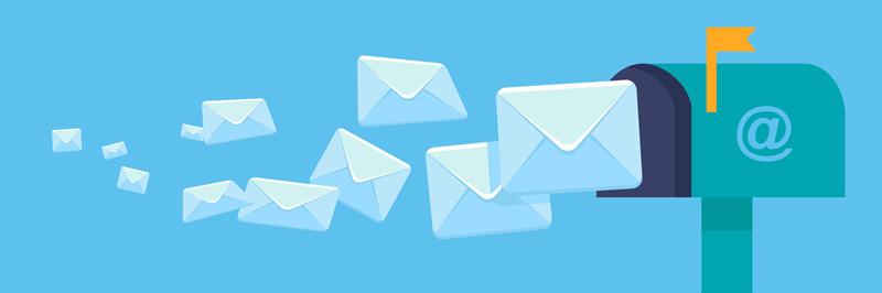 cassetta della posta con email