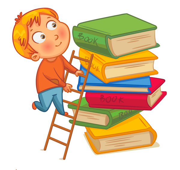 bimbo, scala e libri