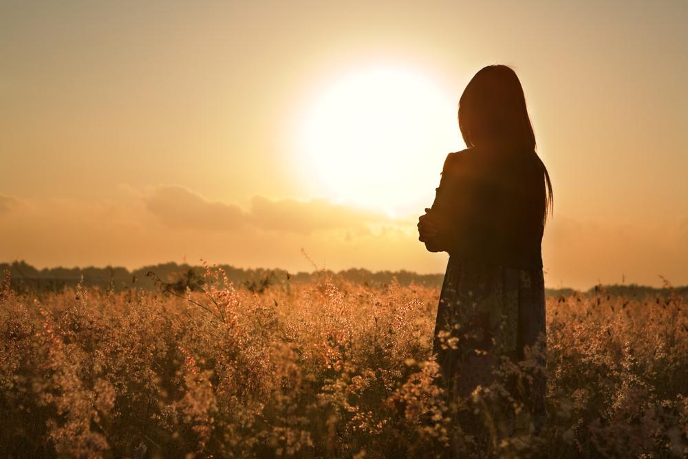 futuro roseo: guardare il tramonto