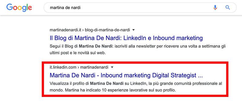 snippet google martina de nardi