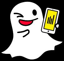 icona di snapchat fa l'occhiolino