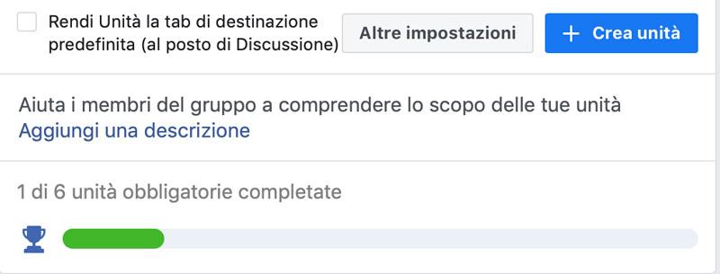 unità gruppo facebook